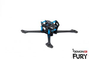 DemonRC Fury 5X Lite world lightest fpv frame perfect balanced racing freestyle quad 2